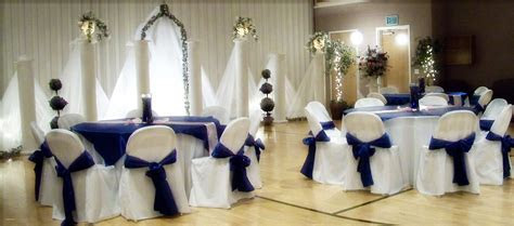 Light blue and silver wedding decorations elegant royal