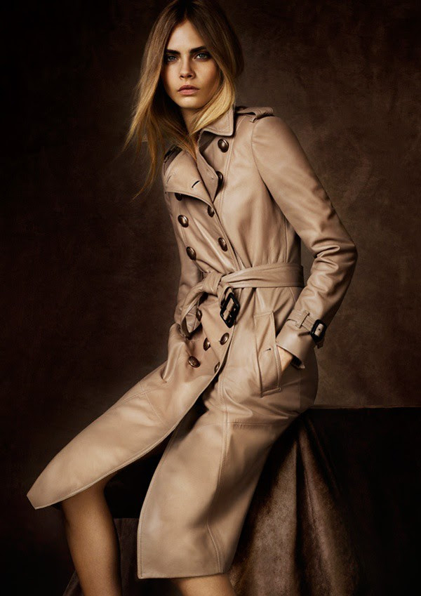 099 plonge leather military trench coat