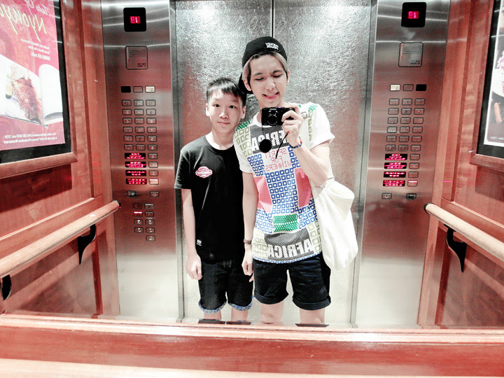 typicalben with binghong at lift