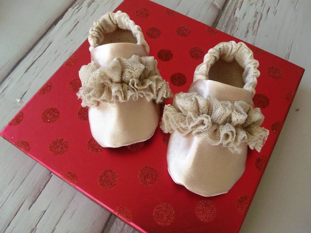 Baby Shoes, Gisella Gold - weepereas