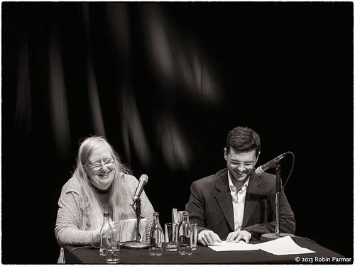 Marco Viscomi with Eiléan Ní Chuilleanáin, translator