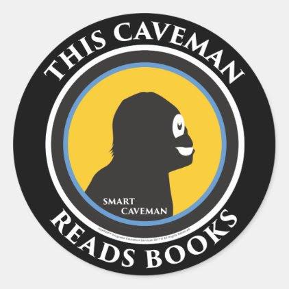 Smart Caveman: Read Books Move Ahead Stickers