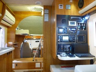 interior of the well-equipped campervan