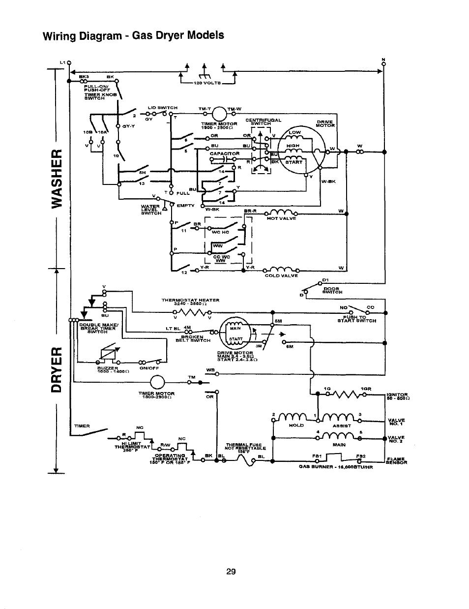 Wiring Diagram Whirlpool Gas Dryer