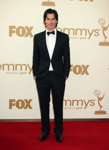 Ian Somerhalder Celebrities arriving at the 63rd Primetime Emmy Awards held at the Nokia Theatre in Los Angeles, CA.