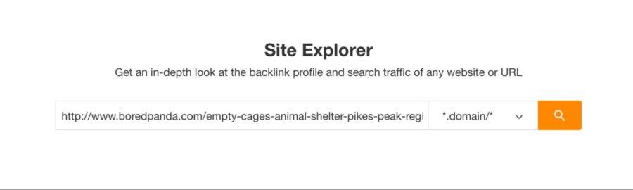 Ahrefs – Search Backlink Profile