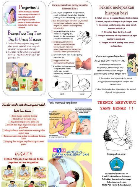 leaflet teknik menyusui  benar