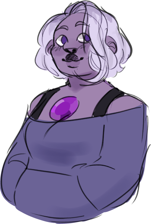 Anonymous said: can you redesign amethyst please? Answer: amethyst 2.0: 100% more mellow, 70% less hair