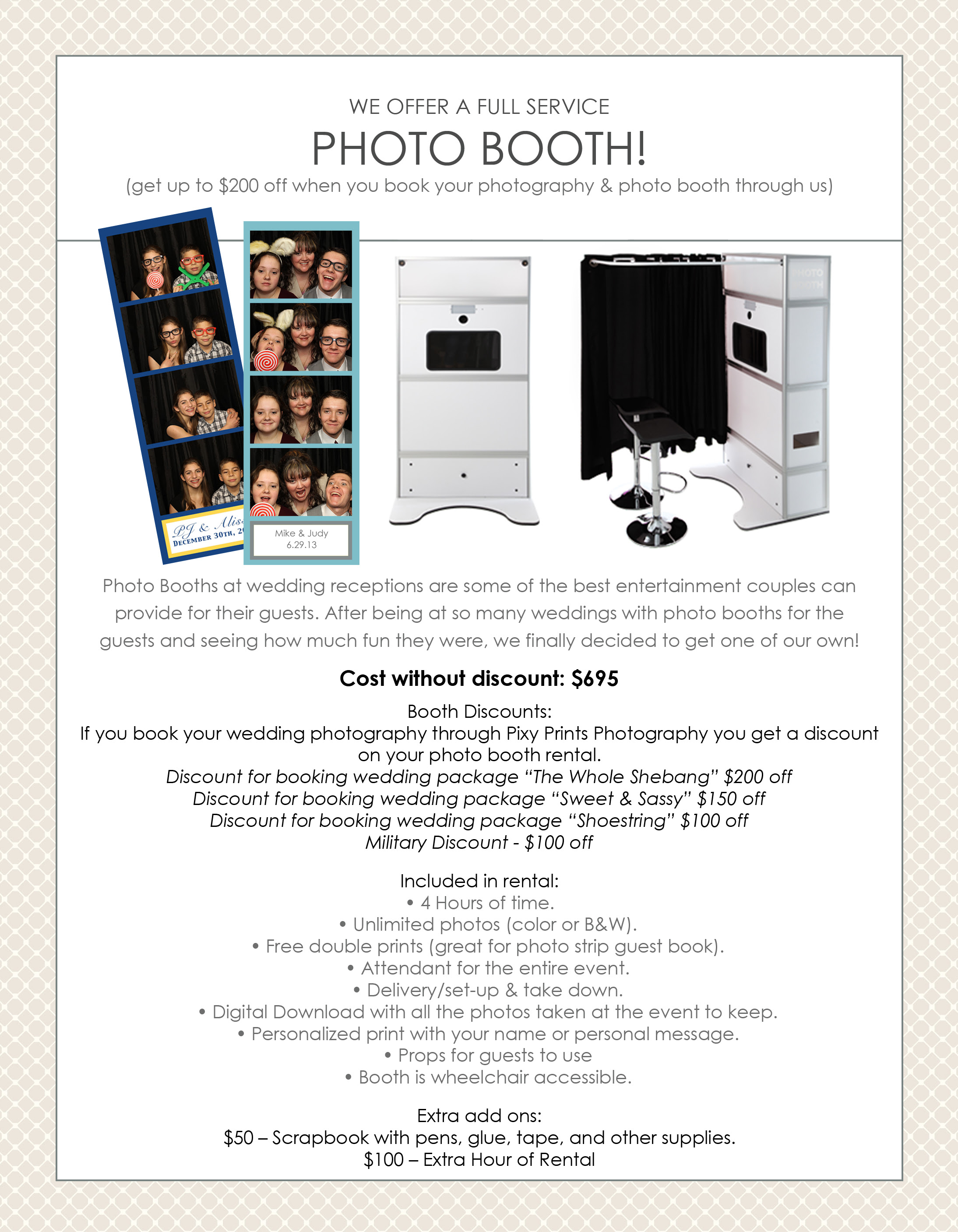 Photo Booth Pixy Prints Photography