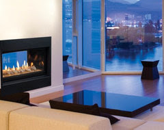 Convert fire place to double sided - Houzz