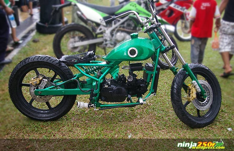 Motorcycle: HONDA WITH CHOOPER MODIFICATION
