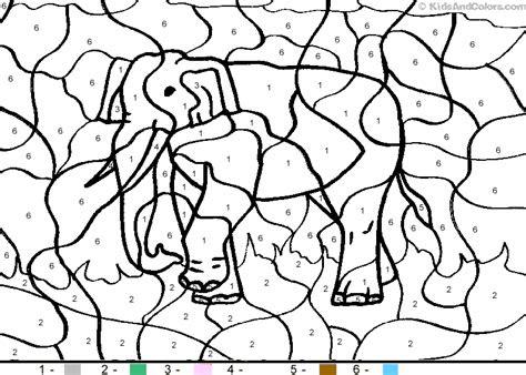 letter  elephant color  number homeschooling