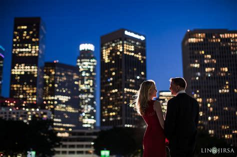 Downtown Los Angeles Engagement   Sarah & Marc