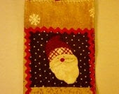 Folk Art Santa Hanging Towel