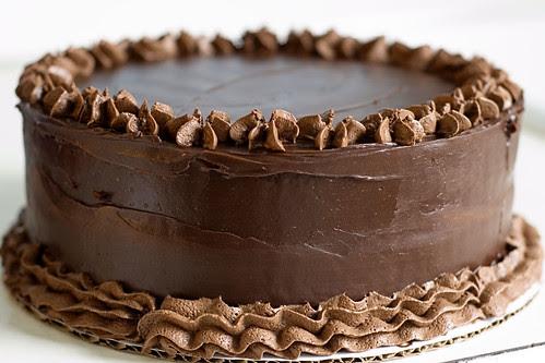 intense deep chocolate cake