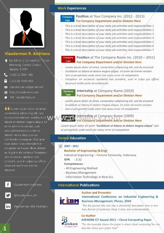 Contoh Cv Menarik Dan Kreatif Bahasa Indonesia Best Resume Examples