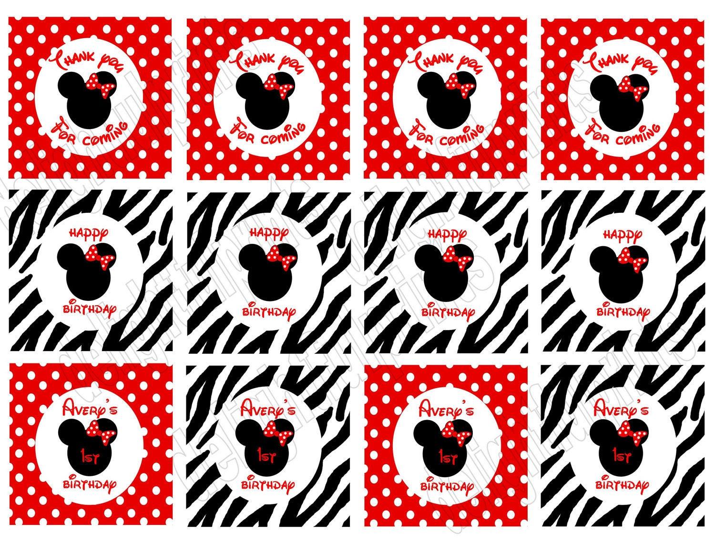 imprimibles para fiestas de Minnie