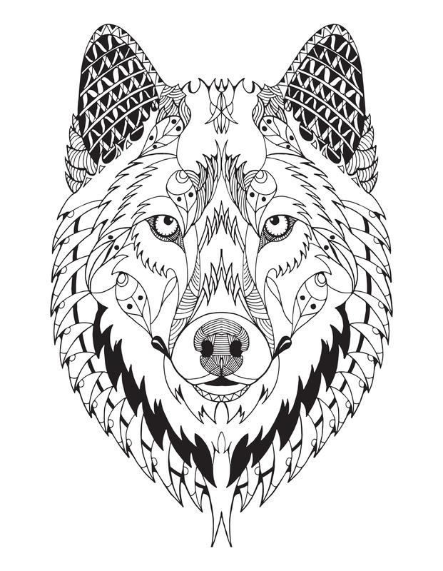 Wolf Mandala - Mandalas For The Soul