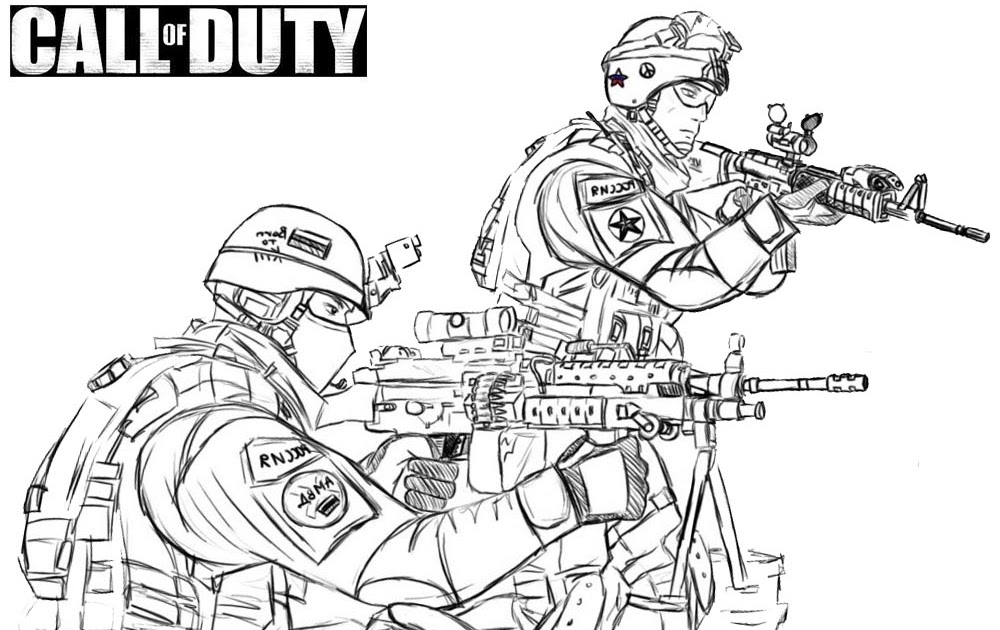 Call of Duty Coloring Pages Black Ops Sketch Free ...