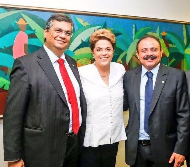 Flávio Dino, Dilma Rousseff e Waldir Maranhão (Foto: Divulgação)
