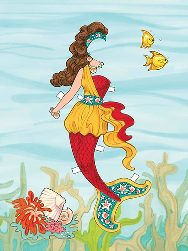 mermaid under water free paper doll 3