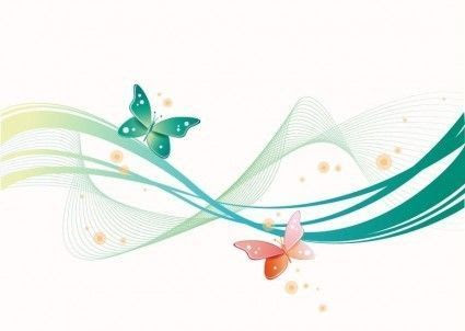abstract waves créas scrapbooking - clipart