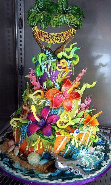 Tropical / Luau Cakes #2