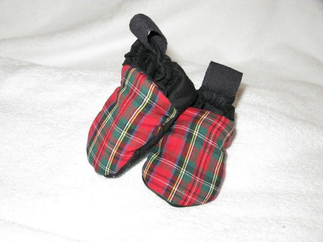 Tartan Baby Slippers