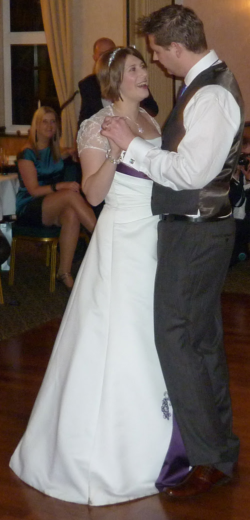 Tom & Nicola Goldstraw - the first dance at the wedding supper.