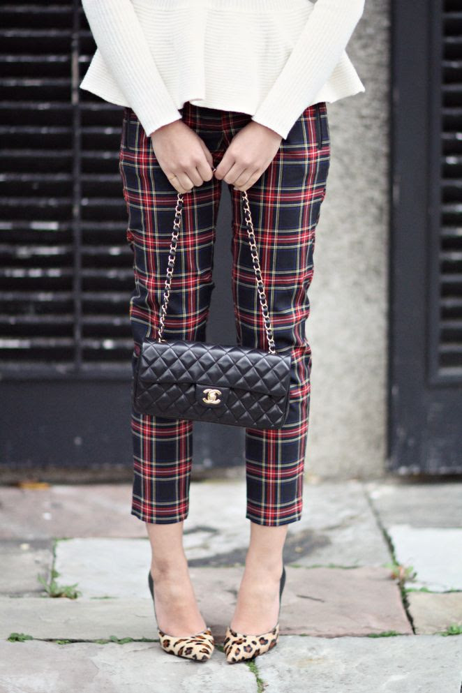 peplum, plaid, leopard
