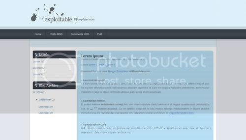 Blogger Blue Minima Web2.0 Template