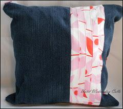 Denim & Pink Pillow Pleats