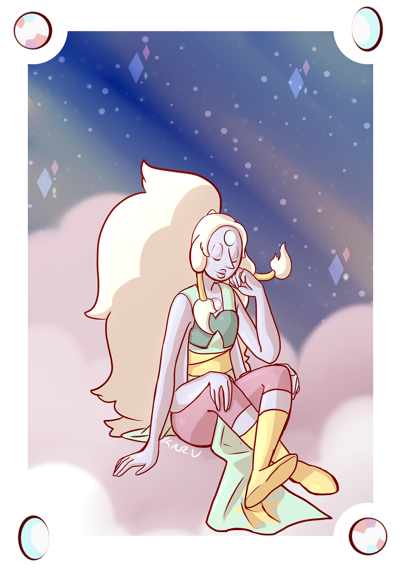 """I Figured it was time for a redraw "" BUY THIS PRINT!My Art I My Steven Universe Art I Commission Info This is the original: [original post is here]"