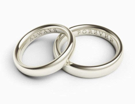 Personalize Your Wedding Rings With the Perfect Engraved