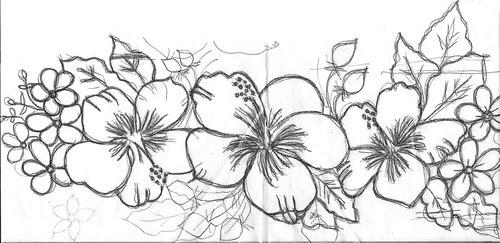 flores,risco by Vera Arte em Giz