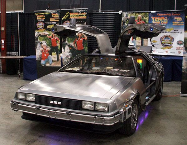 The DeLorean from BACK TO THE FUTURE.