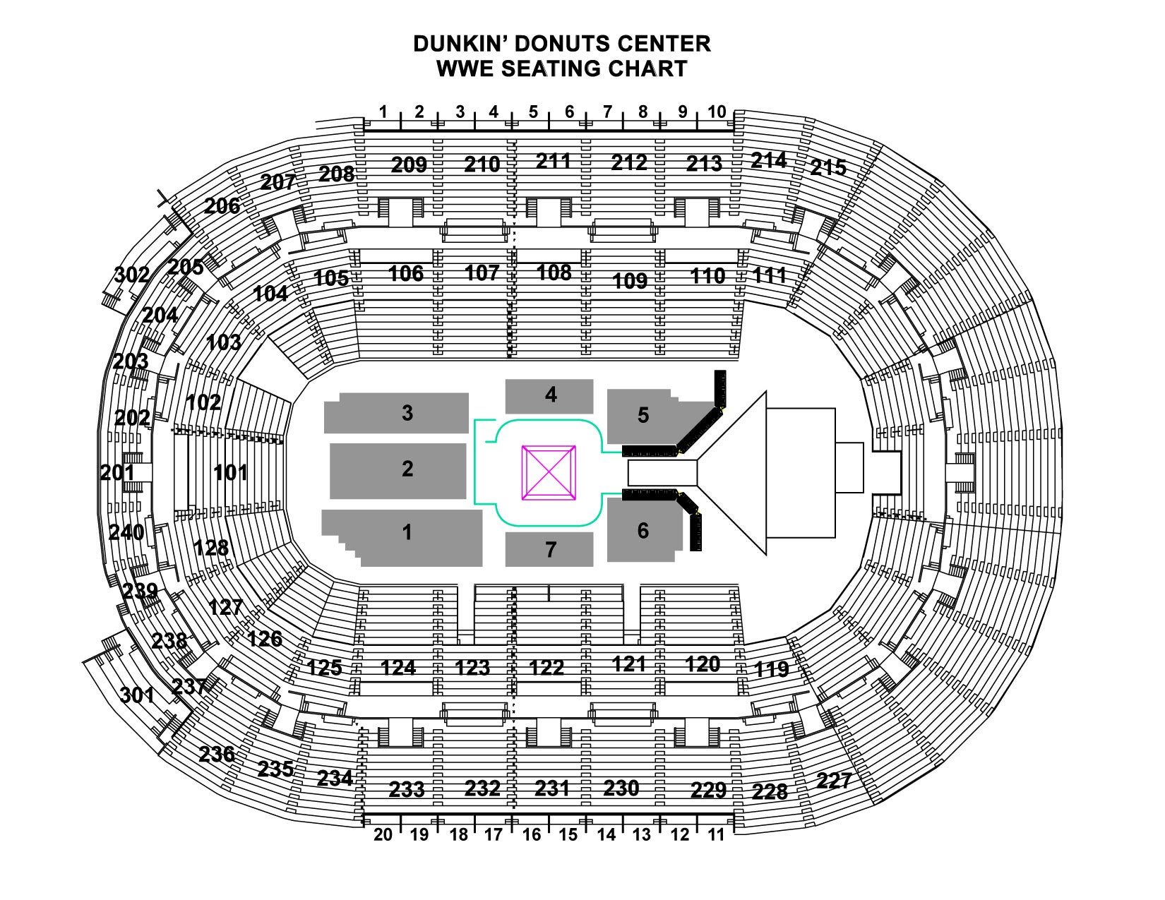 Rose Bowl Concerts Seating Chart