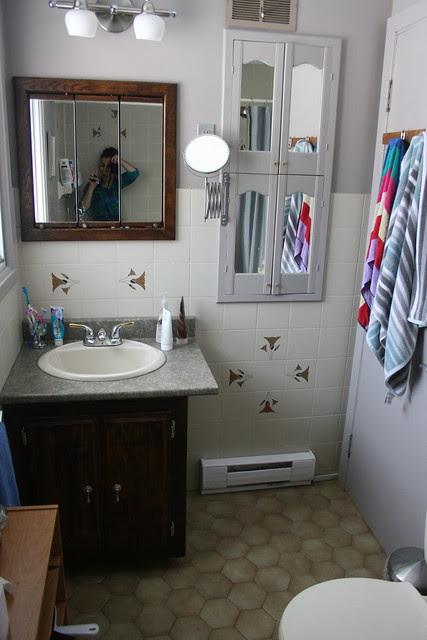 Bathroom before - Vanity view