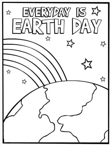 Free Earth Day Coloring Page for Preschool - Preschool Crafts