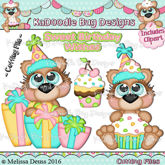 Cutie KaToodles - Birthday Cupcake Bears