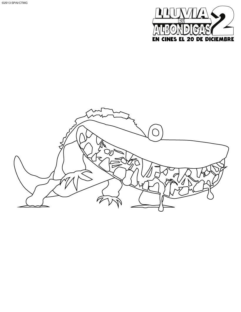Dibujos De Lluvia De Albondigas 2 Para Colorear Pintar 5 Imagenes