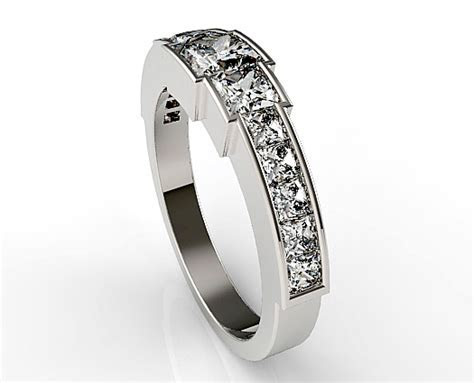 Channel Set Diamond Wedding Band For Womens   Vidar