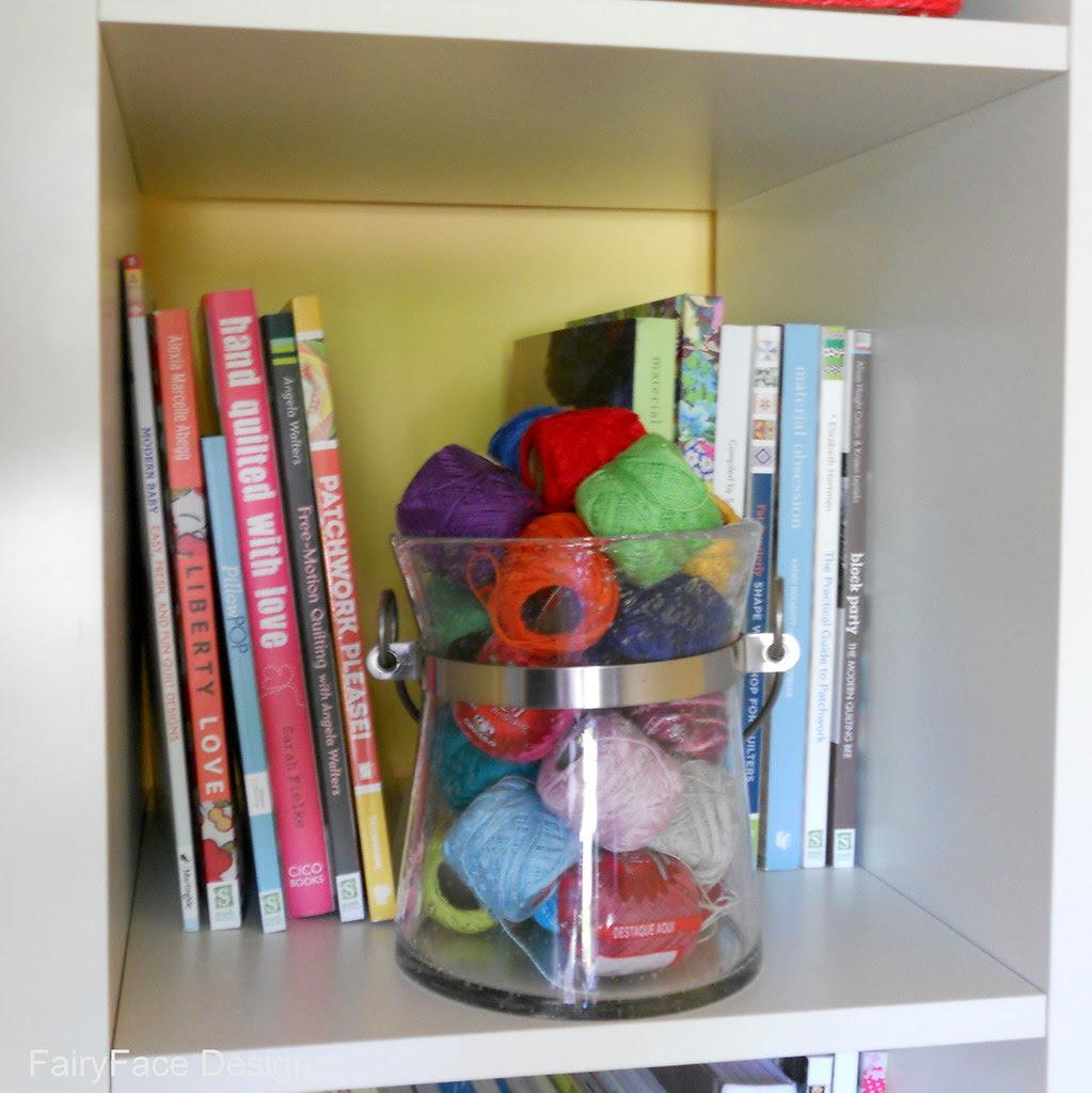 Quilt book shelf