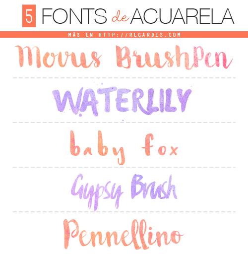 5 Fonts De Acuarela Watercolor Fonts Regardis