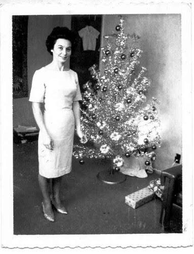 Mom at Christmas, 1960's