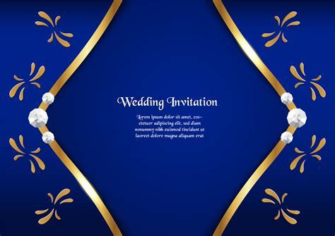 Abstract blue background in premium concept with golden