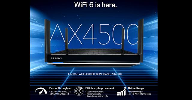【WiFi 6路由器 介紹】Linksys EA9350 Max-Stream 總網速 AX4500、具備1.8GHz 四核心 SoC 處理器