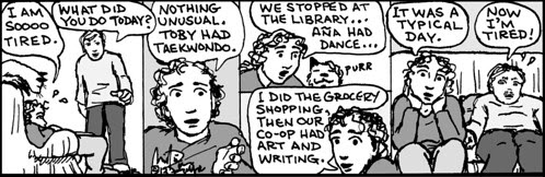 Home Spun comic strip #801
