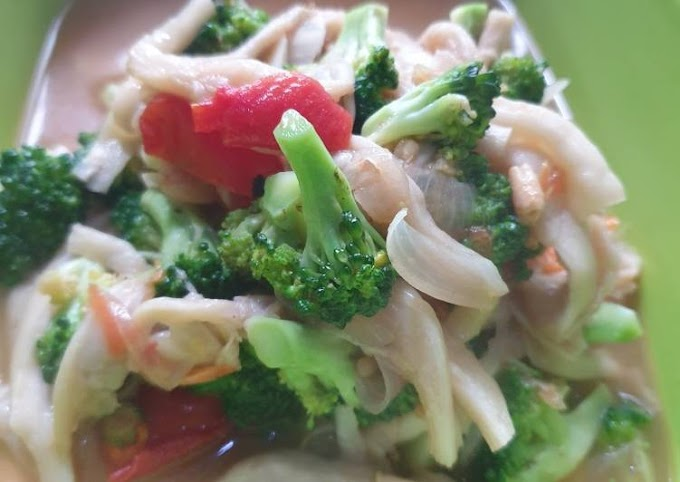 Resep Mudah Tumis brokoli jamur tiram Paling Mudah