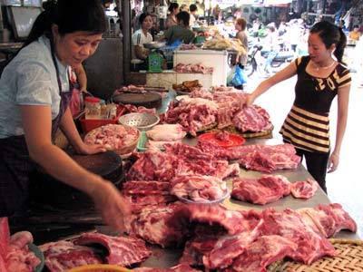 rau, thịt, dịch bệnh, bẩn